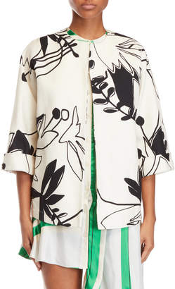 Alysi Printed Cocoon Jacket