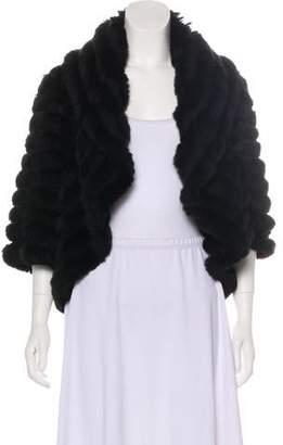 Neiman Marcus Cashmere Fur Shrug