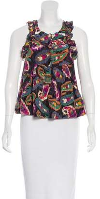 Isabel Marant Silk Sleeveless Top