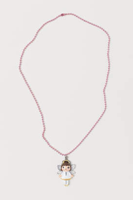 H&M Necklace with Pendant - White