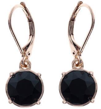 Gloria Vanderbilt Gold-Tone Jet Black Crystal Drop Earrings