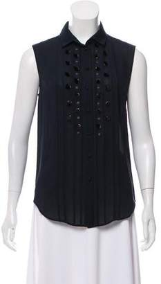 Maiyet Embellished Silk Top