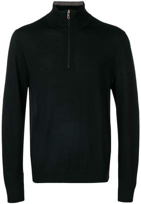 Paul Smith Black Label half zip mock turtleneck jumper