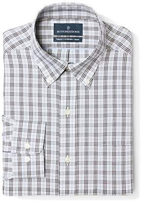 Buttoned Down Men's Tailored Fit Spread-Collar Non-Iron Dress Shirt