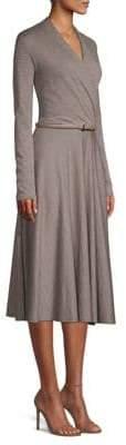 Max Mara Wool Blend Larix Wrap Dress
