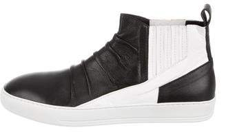 Alexandre Plokhov Creased Leather Sneakers w/ Tags