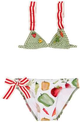 Selini Action Vegetable Print Lycra Bikini