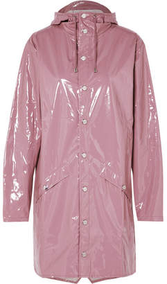 Rains Hooded Glossed-pu Raincoat - Pink