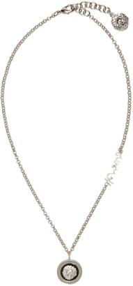 Versus Silver Lion Necklace $180 thestylecure.com