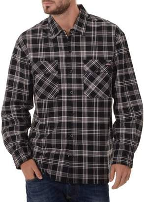 Dickies Genuine  Big Men's Long Sleeve Twill Plaid Workshirt