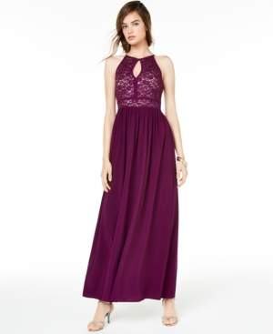 Morgan & Company Juniors' Glitter Lace Gown