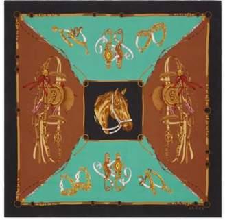 Gucci Silk scarf with equestrian print