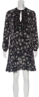Zadig & Voltaire Silk Lace-Trimmed Dress