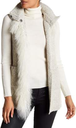 Dolce Cabo Genuine Mongolian Lamb Fur Shawl Vest