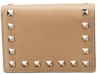 Valentino Rockstud Pocket Leather Wallet
