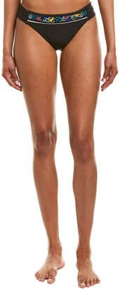 Nanette Lepore Swim Femme Noir Embroidered Siren Bikini Bottom