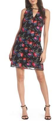 Sam Edelman Embroidered Mesh Shift Dress
