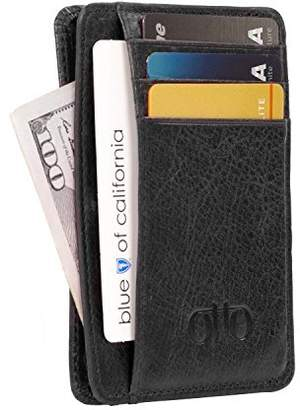 OTTO Leather Otto Genuine Leather Wallet Bank Cards, Money, RFID Bloking - Unisex