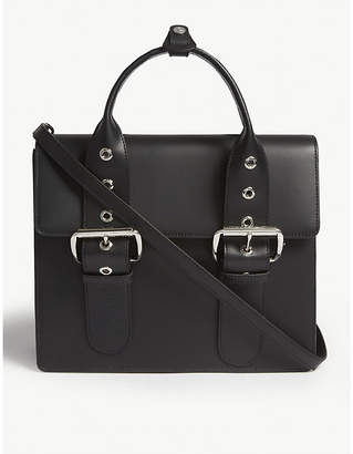 Vivienne Westwood Alex large buckled strap leather satchel