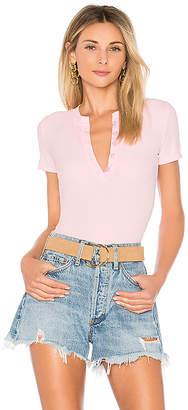 by the way. Melina Rib Henley Bodysuit