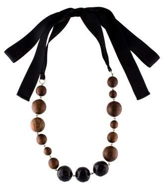 Marni Wood Bead Necklace