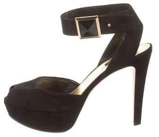 Louis Vuitton Peep-Toe Platform Sandals