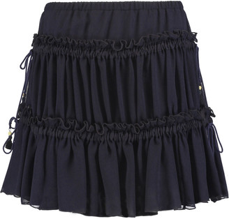 See by Chloé Gathered chiffon mini skirt $390 thestylecure.com