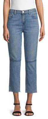 J Brand Frayed Cuff Jeans
