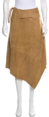Max Mara Suede Wrap Skirt