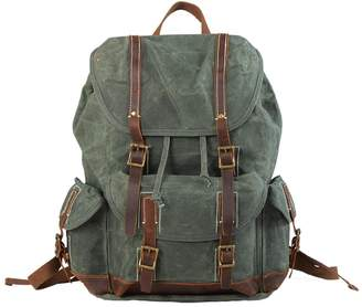 EAZO - Waterproof Waxed Canvas Backpack in Teal