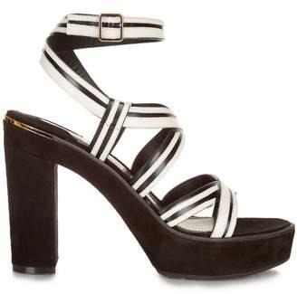 Salvatore Ferragamo Gen bi-colour suede and leather sandals