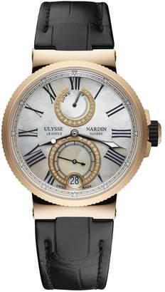 Ulysse Nardin Rose Gold and Diamond Marine Chronometer Watch 39mm