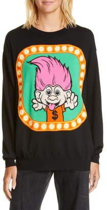 Moschino x Good Luck Trolls Jacquard Wool Sweater