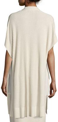 Eileen Fisher Long Sleek Tencel® Ribbed Kimono Cardigan, Plus Size $318 thestylecure.com