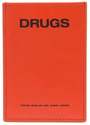 Raf Simons leather card holder
