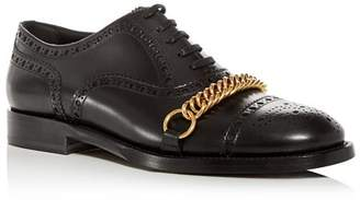 Burberry Men's Lewis Leather Brogue Cap-Toe Oxfords