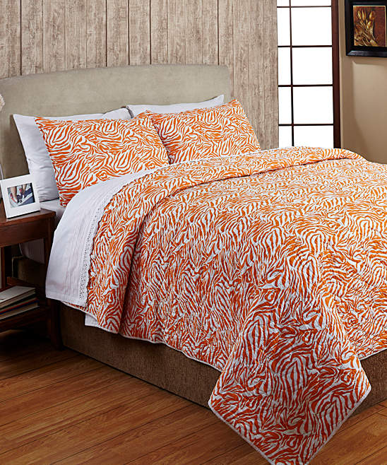 Orange Penelope Cotton Quilt Set