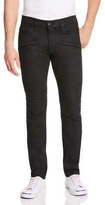 Hudson Blinder Biker Super Slim Fit Jeans in Raw Black