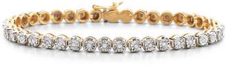 JCPenney FINE JEWELRY 1/2 CT. T.W. Diamond 14K Yellow Gold over Sterling Silver Tennis Bracelet