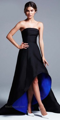 Mac Duggal Strapless High Low Ball Gown $398 thestylecure.com
