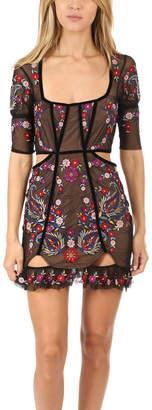 For Love & Lemons Ester Embroidery Mini Dress