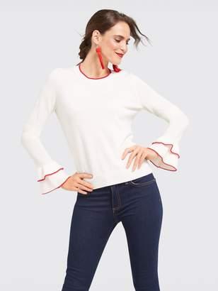Draper James Ashley Peplum Sleeve Sweater