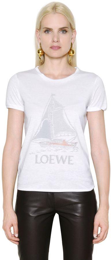 Loewe Boat Printed Cotton Blend Jersey T-Shirt
