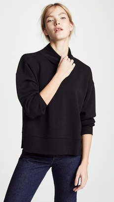 Z Supply Loft Fleece Mock Neck Sweater