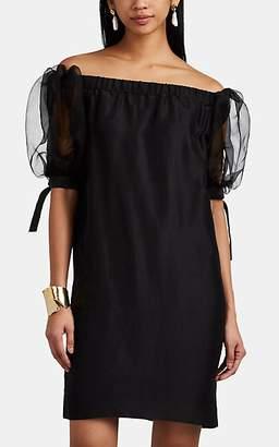 Paige Azeeza Women's Silk Off-The-Shoulder Shift Dress - Black