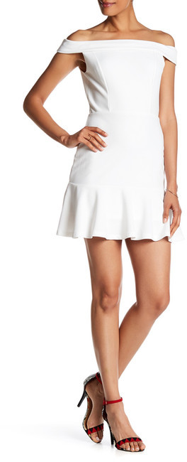 ABS By Allen SchwartzABS by Allen Schwartz Off-the-Shoulder Flounce Bottom Dress