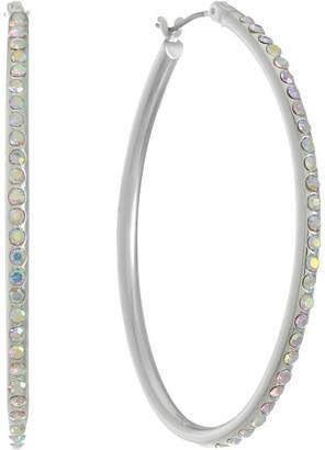 Liz Claiborne White 49mm Hoop Earrings