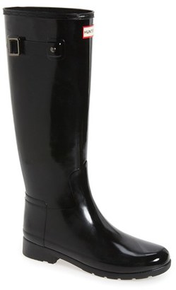 Women's Hunter 'Original Refined' High Gloss Rain Boot $165 thestylecure.com