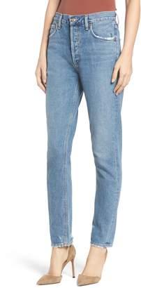A Gold E AGOLDE Jamie High Waist Classic Fit Nonstretch Denim Jeans