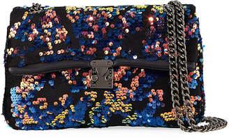 Jagger Kc Ava Velvet Sequin Shoulder Bag